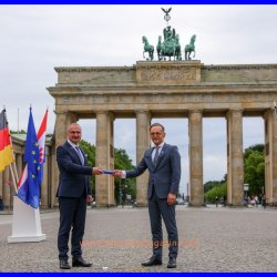 EU presidency transfer ceremony in Berlin